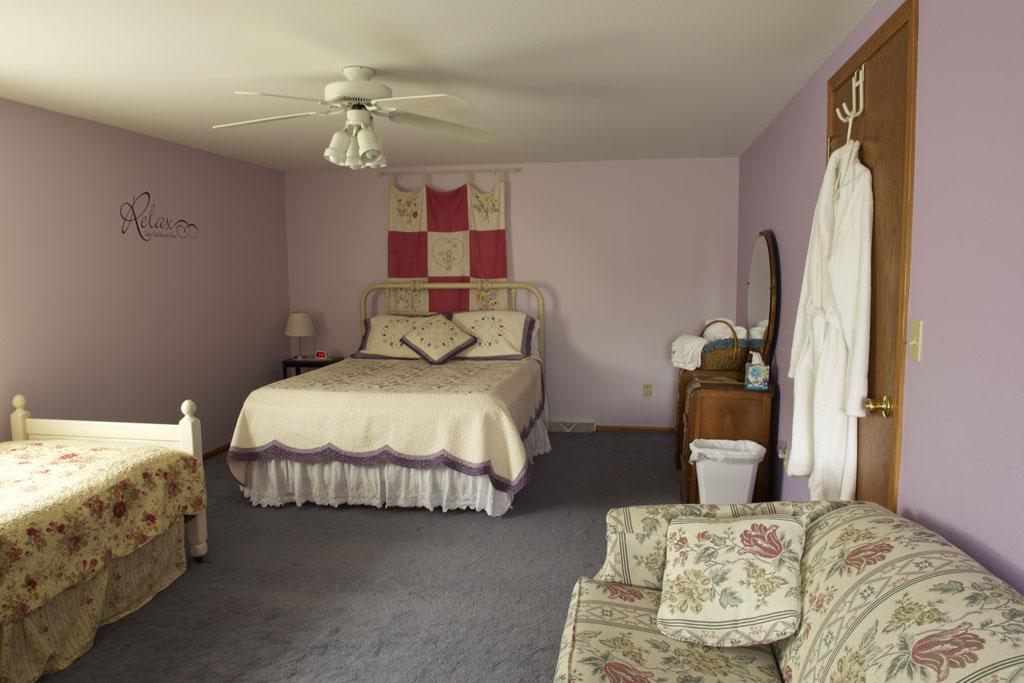 Lilac Room Setup, Valley Springs Farm, Reedsburg, WI