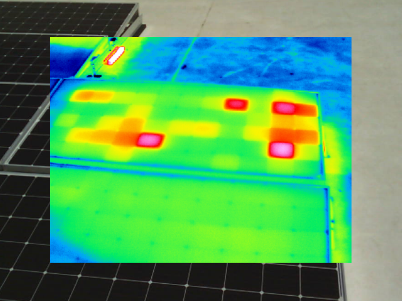 IR Scan of a Solar Panel