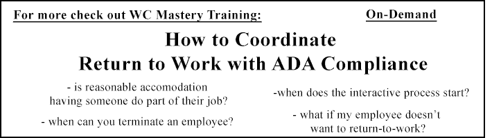 How to Coordinate RTW with ADA Compliance