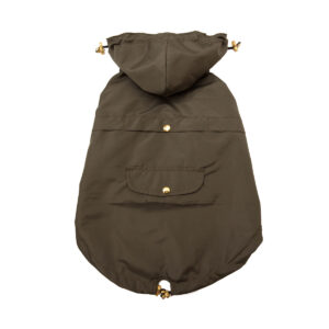 chaqueta impermeable verde militar - Feroz
