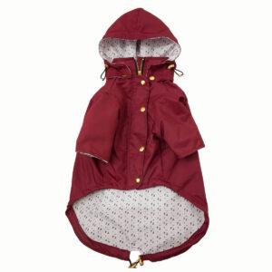 chaqueta impermeable vinotinto - Feroz