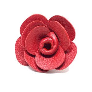 Rosa en cuero roja - Feroz