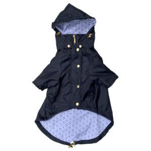 Chaqueta impermeable azul - Feroz