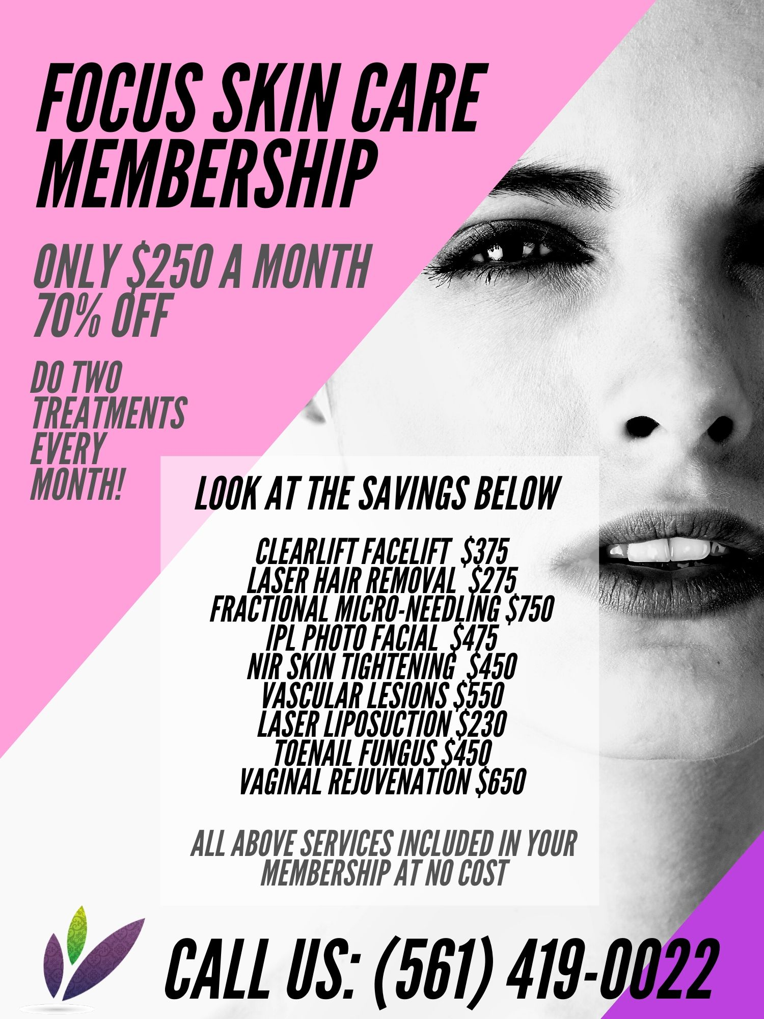 seasonal offer coupon from four seasons laser center