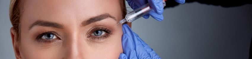 An example of botox injection
