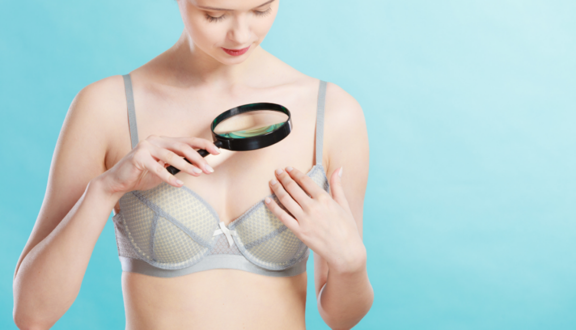 A picture of woman thinking how she will minimize her breast scars