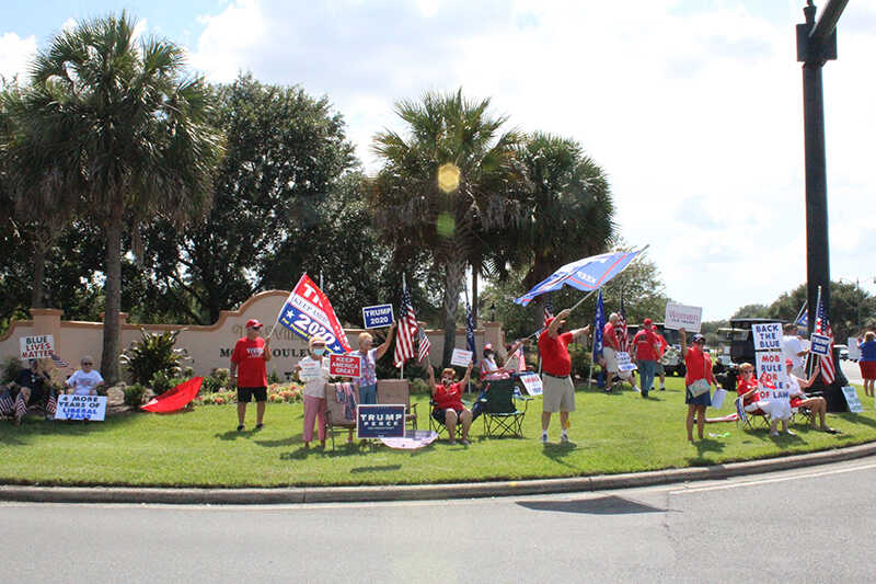 July 31st Photos of Recent Sign/Flag Waving in The Villages