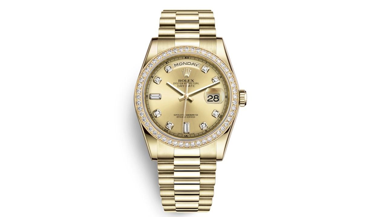 Rolex 18kt Gold Men's Rolex President
