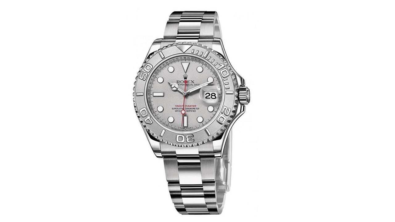 Rolex Yachtmaster Men's Platinum And Stainless Steel