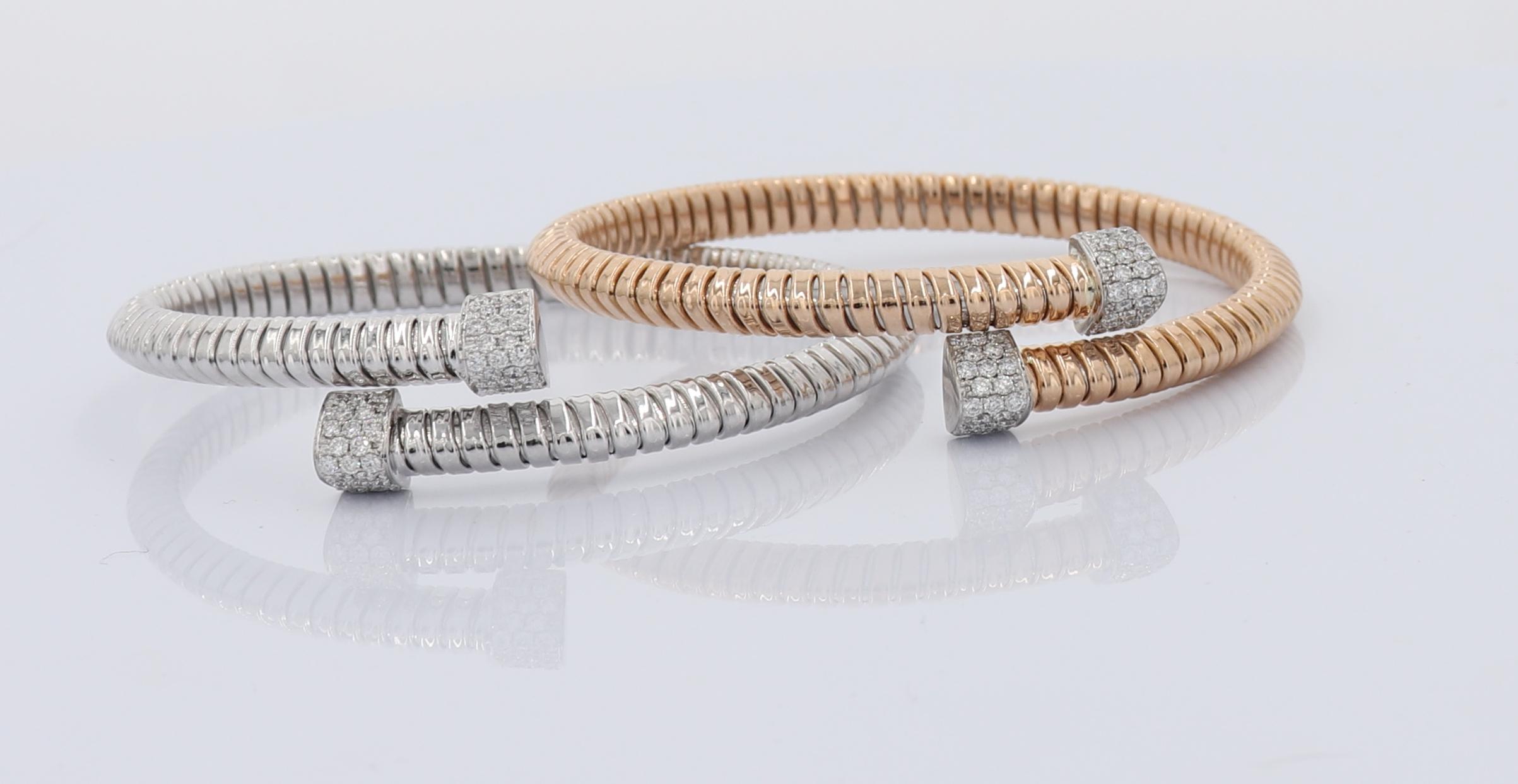 1/2 CT Diamond And 18k Gold Bangle