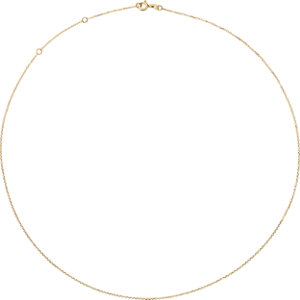 10K Yellow 1mm Adjustable Diamond Cut Cable 16-18″ Chain