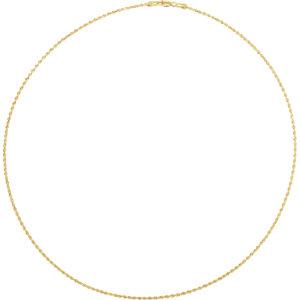 10K Yellow 1.5mm Diamond Cut Rope 18″ Chain