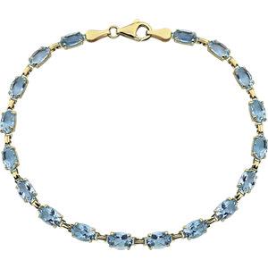 14K Yellow Sky Blue Topaz 7.25″ Bracelet
