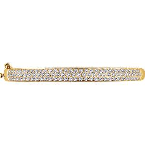 14K Yellow 3 CTW Diamond Pave' Bracelet