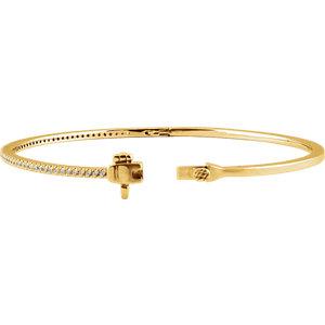 14K Yellow 1/2 CTW Diamond Pave' 7″ Bracelet