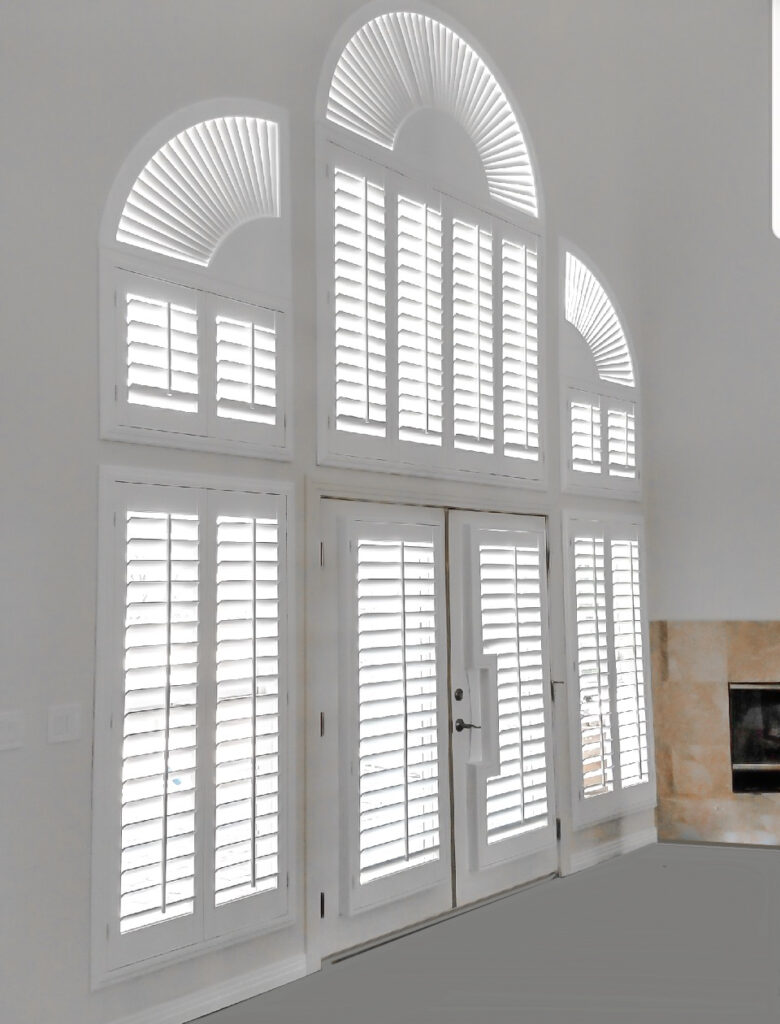 Giant shutters wall with arches