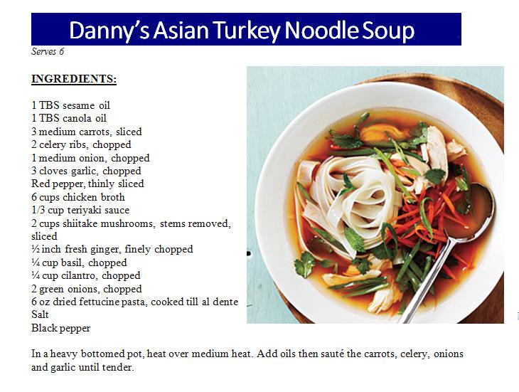 Asian Turkey Noodle Soup