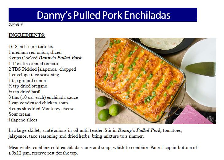 Pulled Pork Enchiladas
