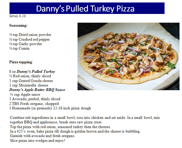 Pulled Turkey Pizza