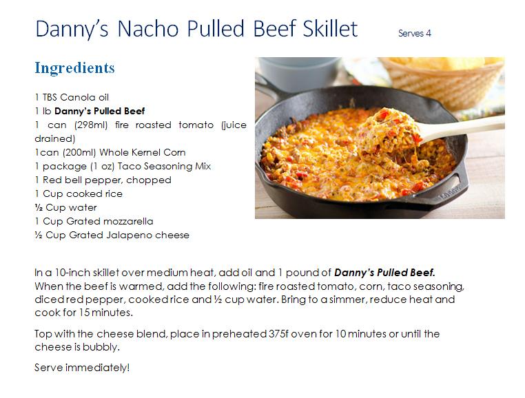 Nacho Pulled Beef Skillet