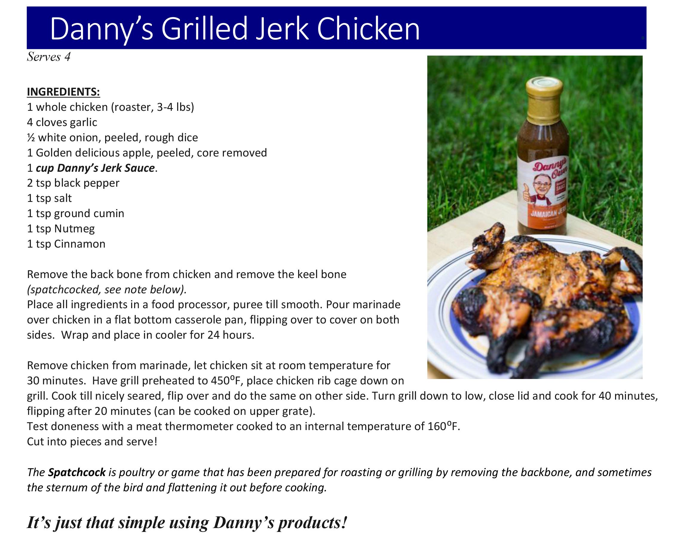 Danny's Grilled Jerk Chicken