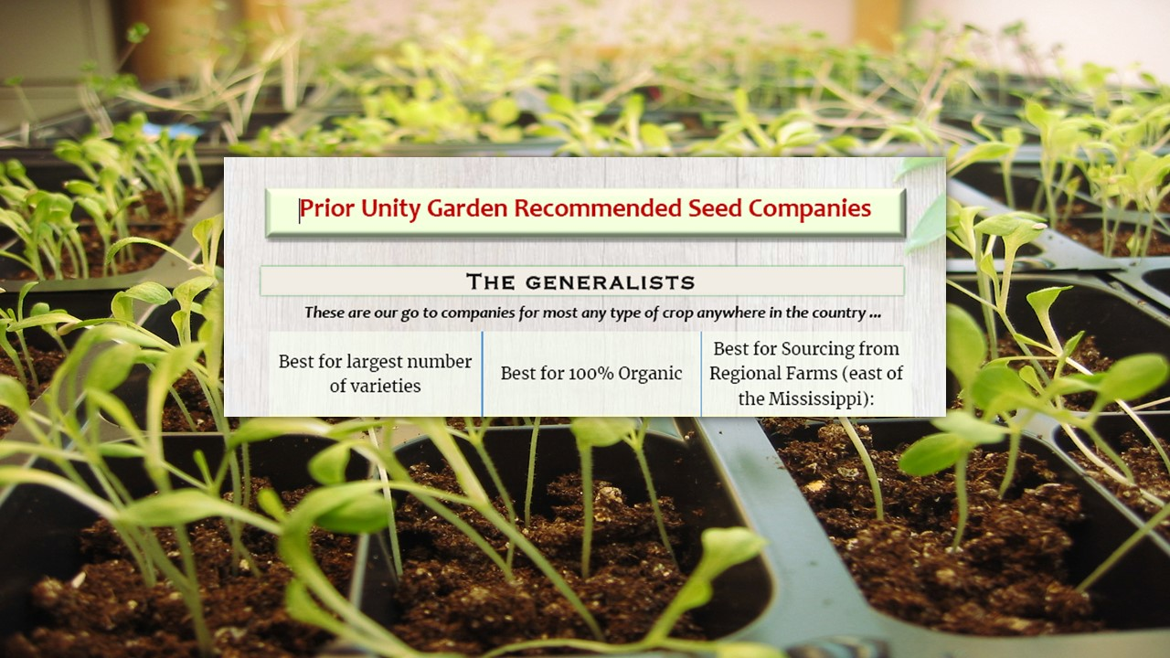 a list of safe seed companies