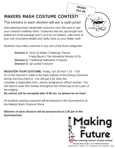 Monster & Costume Makers Contest