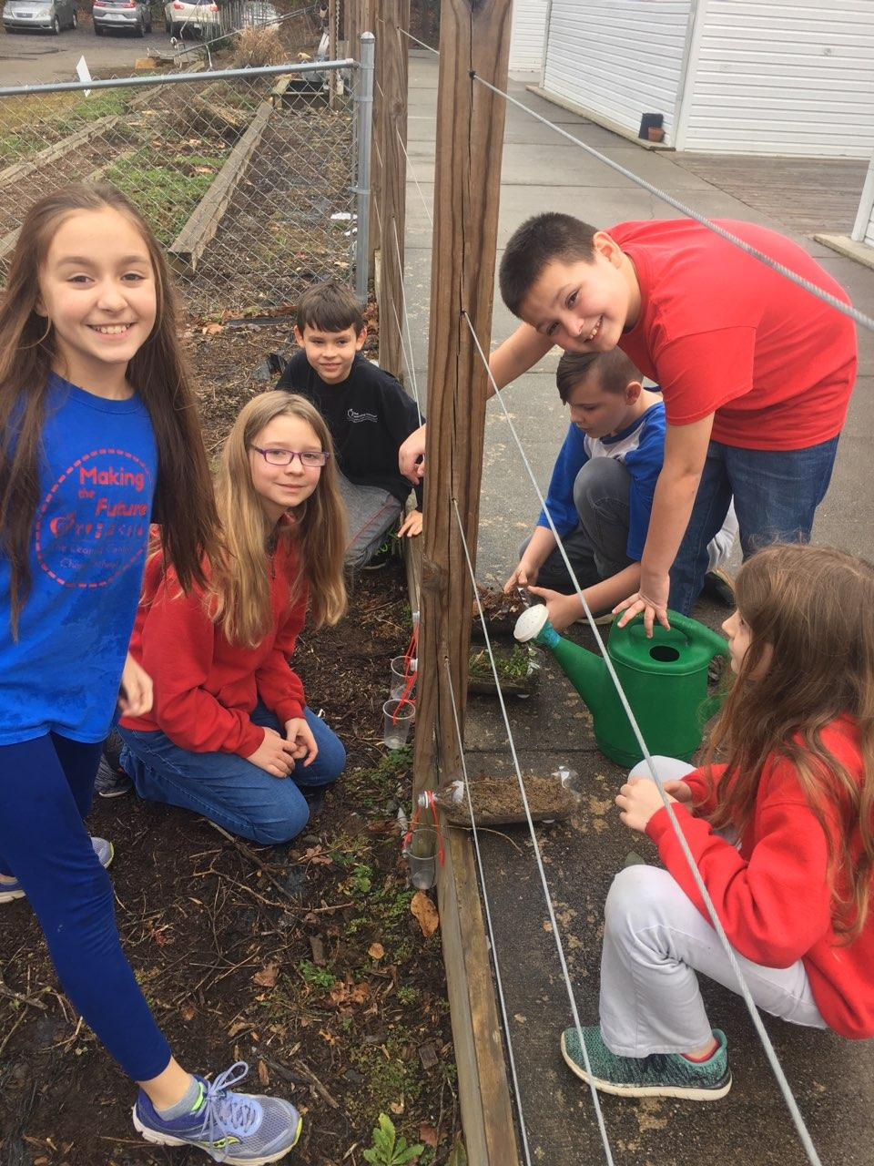 Garden based learning at The Learning Center Charter School.