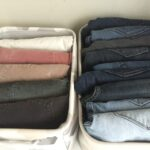 Store pants vertically so that you can have to pick of the bunch!