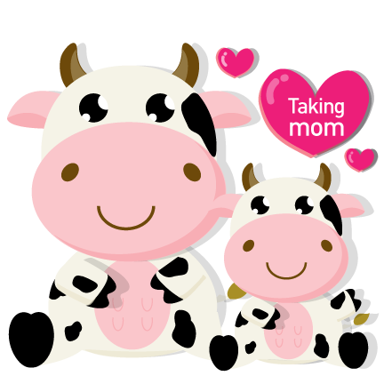 mom and baby cow mothers day promo green meadows farm queens ny