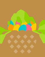 easter egg basket green meadows farm queens ny