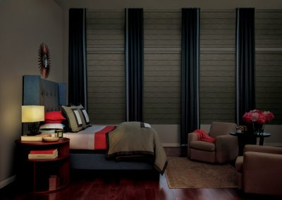 Blackout pleated roman shades