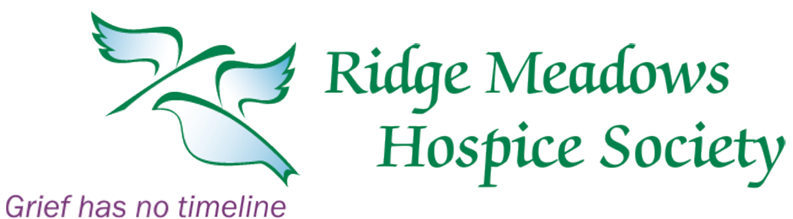 Ridge Meadows Hospice Society Logo grief has no timeline