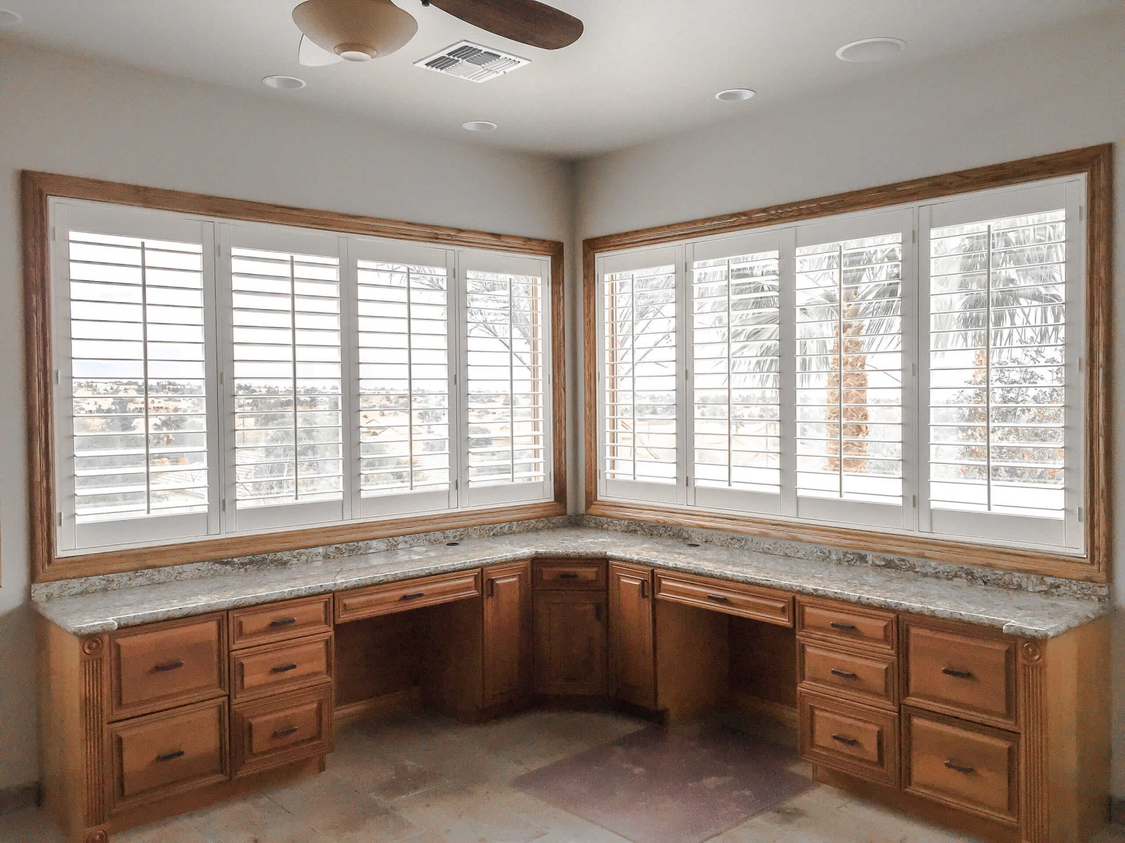 2 large shutters above corner counter 1 - Home