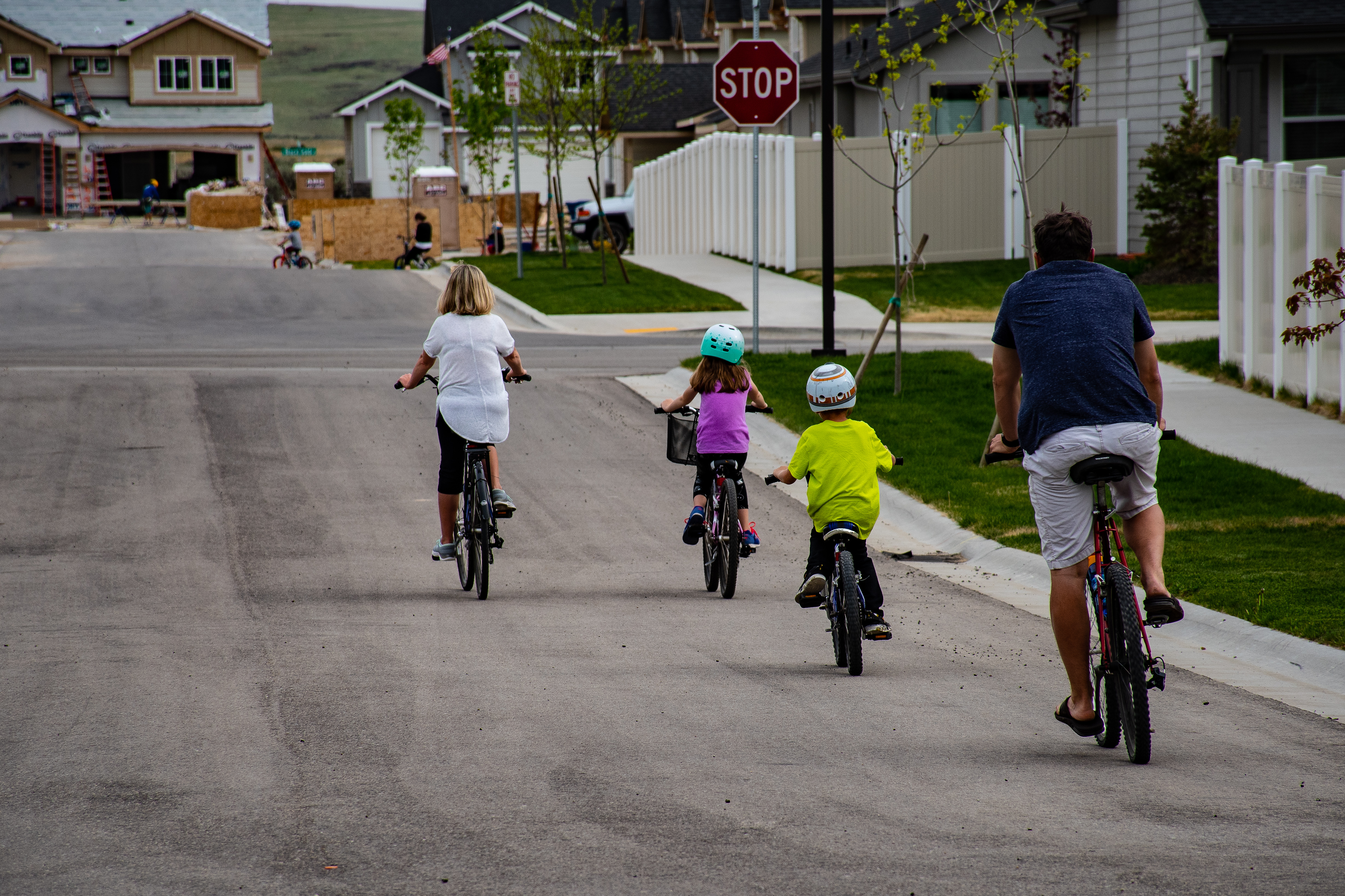 Canva - Family Riding on Bicycle
