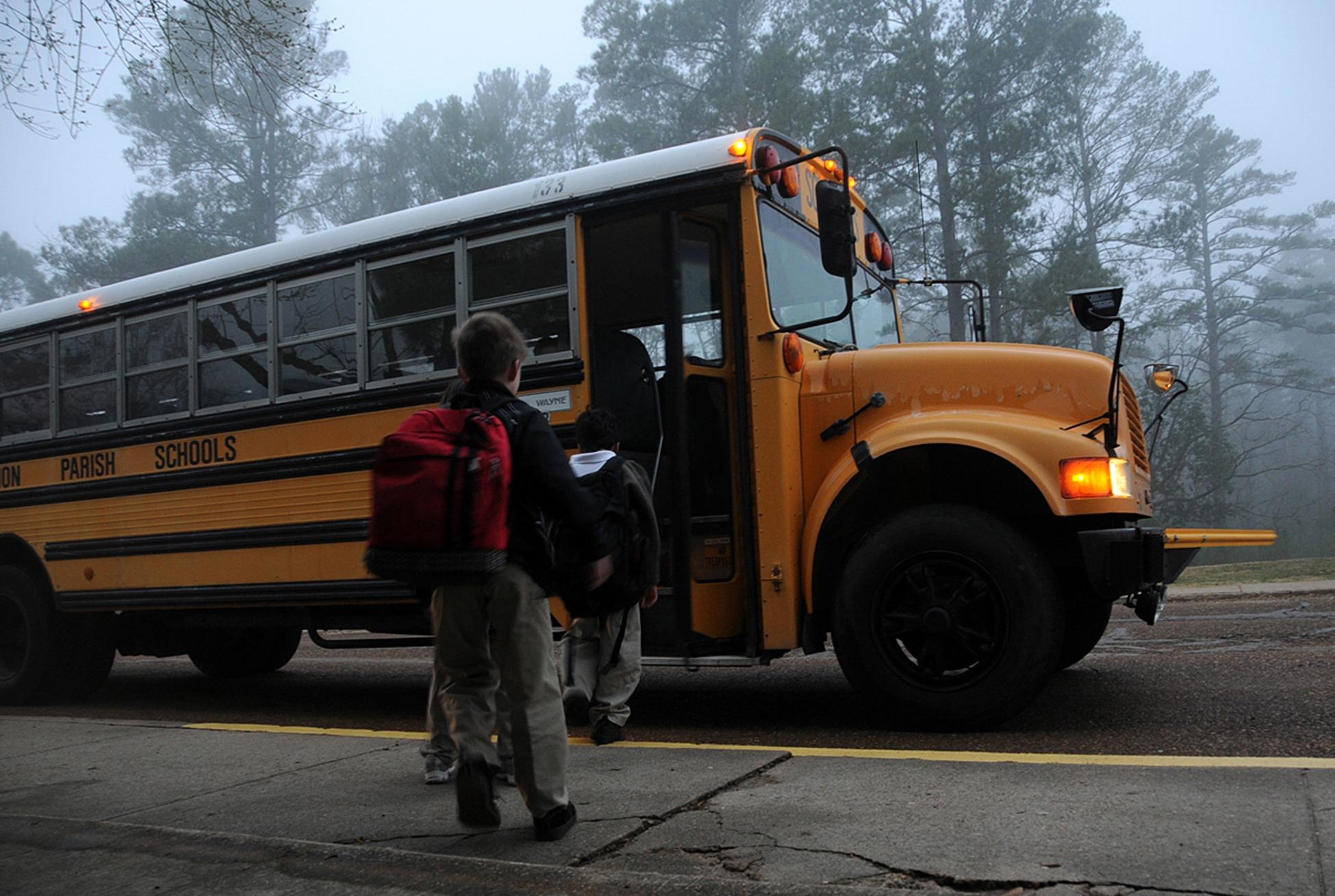 Canva - Kids Riding the School Bus