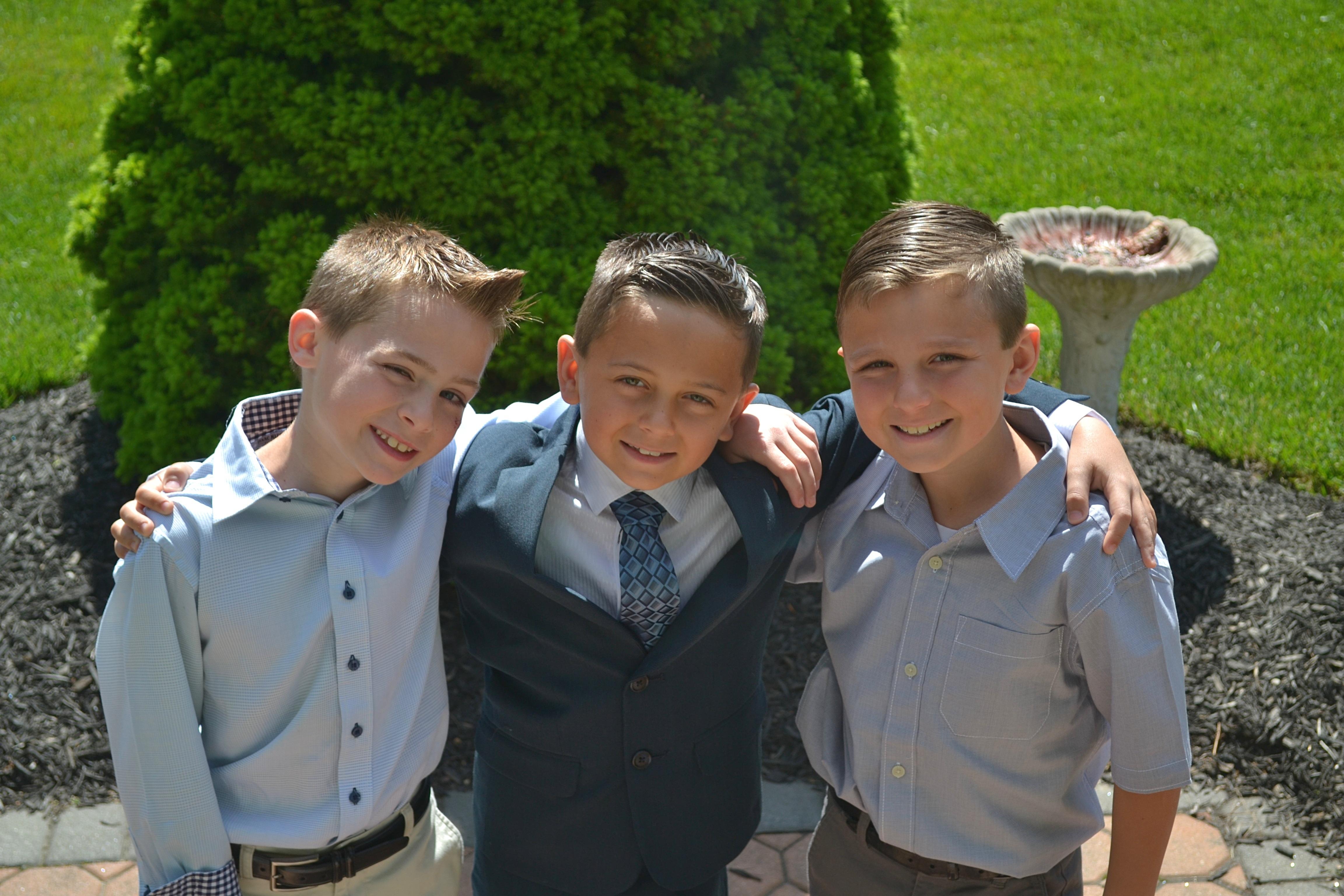 Canva - Three Boys Taking Selfie Outdoors
