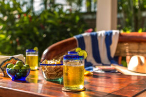 Villa Encanto happy hour drinks and chips