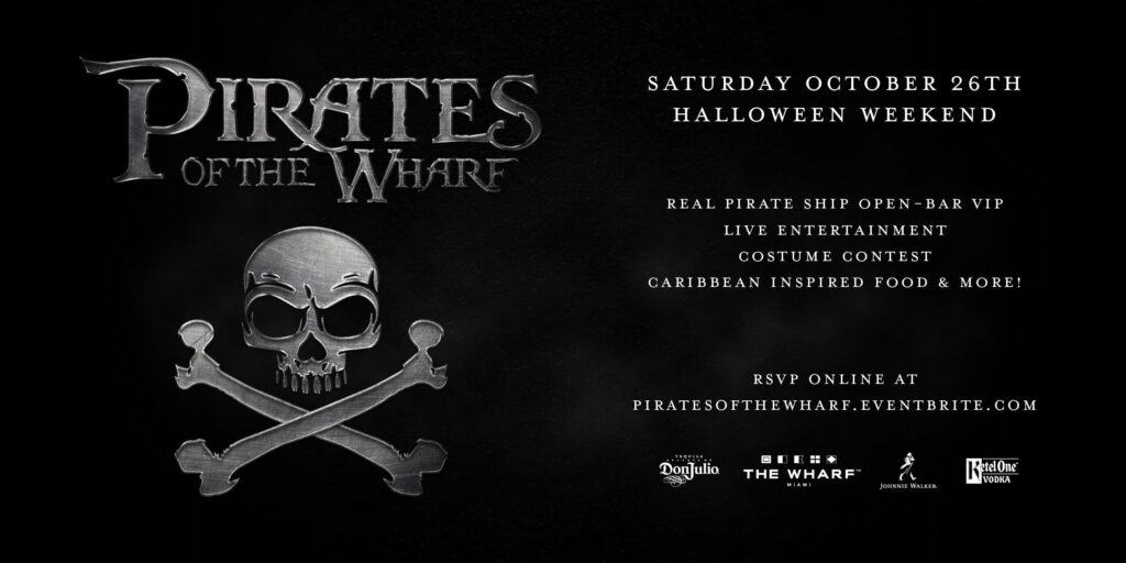 Flyer for Pirate of the Wharf event.