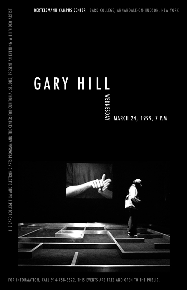 Gary Hill Poster, B&W Real
