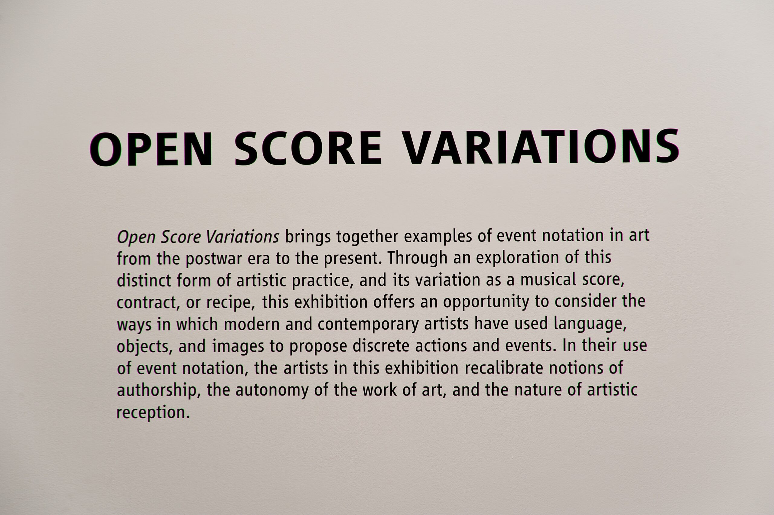 Open Score Variations Plate 1