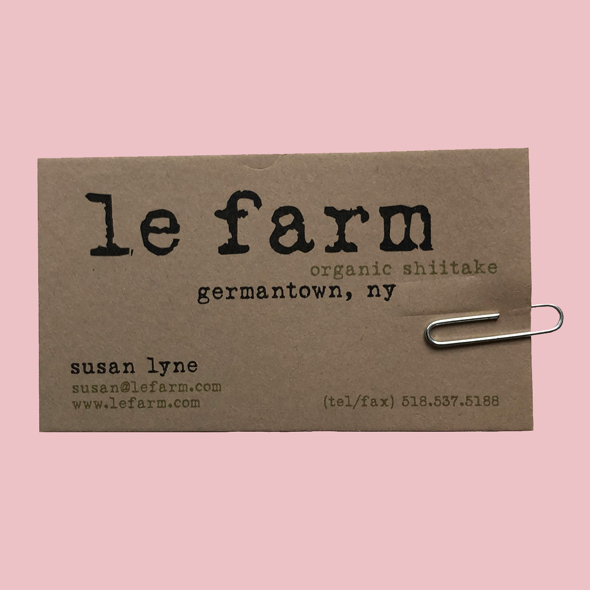 LE FARM BUSINESS CARD hero