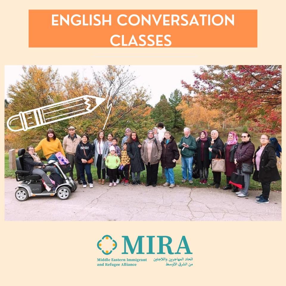 English Conversation Classes Graphic