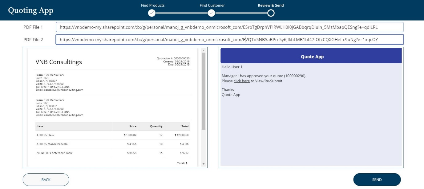 powerapps approval workflow quoting app 3 - vnb consulting