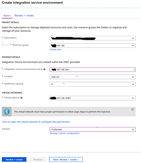azure integration service environment