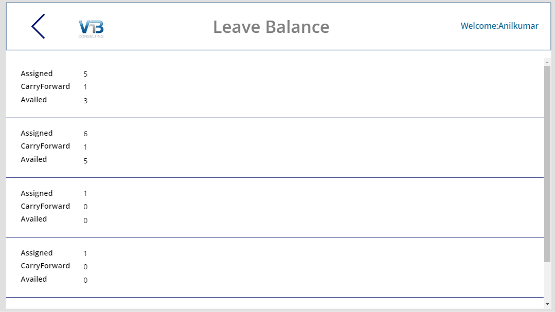 power apps leave request leave balance