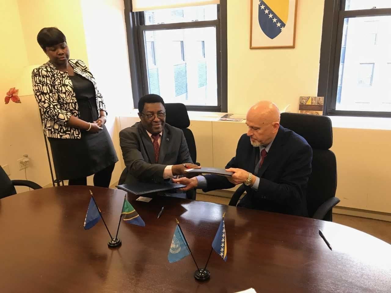 Bosnia and Herzegovina established diplomatic relations with Tanzania