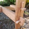 Pegged Through Mortise and Tenon joints