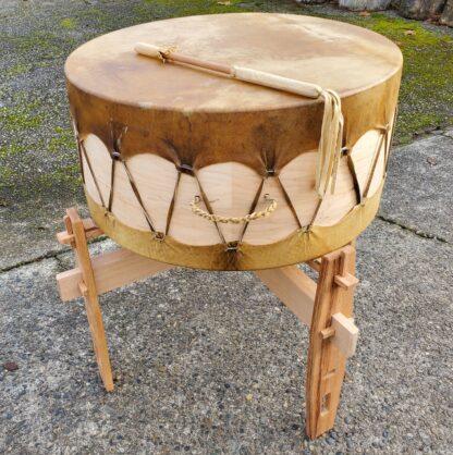 Oak drum stand