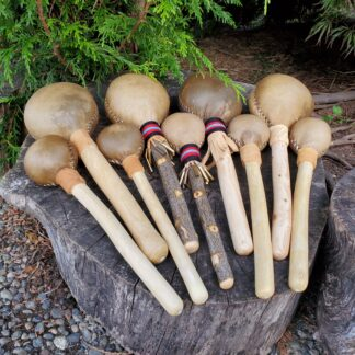 Native American Rawhide Rattles for Sale